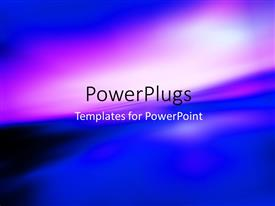 PowerPlugs: PowerPoint template with blurry view of rainbow in deep blue sky