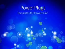 PowerPlugs: PowerPoint template with bokeh effect with blue color and black