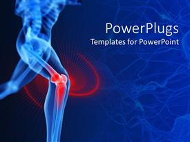 PowerPoint template displaying bones Strength