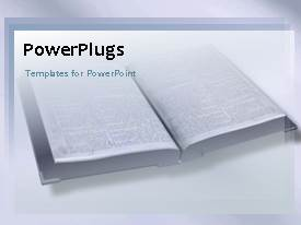 PowerPlugs: PowerPoint template with a book in the background and education related stuff on top of it