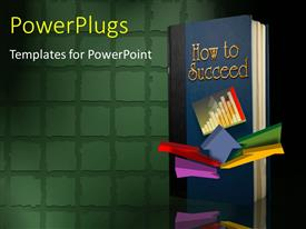 PowerPlugs: PowerPoint template with book front cover page with title HOW TO SUCCEED