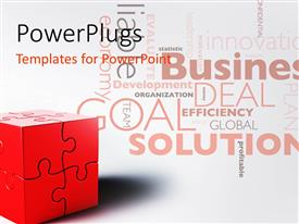 PowerPlugs: PowerPoint template with a box made up of puzzle pieces