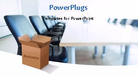 PowerPoint template displaying a box with a text that spell out the word