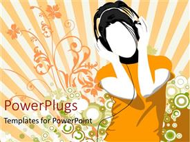 PowerPlugs: PowerPoint template with a boy enjoying music with his headphones on