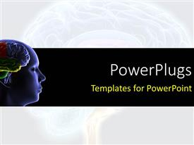 PowerPlugs: PowerPoint template with scan of the human head showing human brain