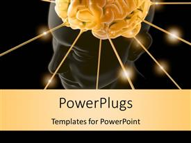 PowerPlugs: PowerPoint template with brain is being energized through the strings