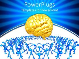 PowerPlugs: PowerPoint template with a brain with a lot of people with the need of it