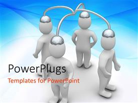 PowerPlugs: PowerPoint template with a number of figures connected to each other