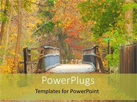 PowerPlugs: PowerPoint template with a bridge with a lot of greenery in the background