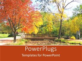 PowerPlugs: PowerPoint template with a bridge and a number of trees