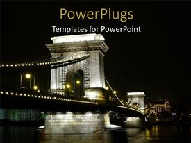 PowerPlugs: PowerPoint template with a bridge with sky in the background