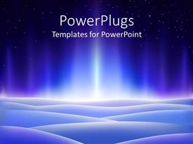 PowerPlugs: PowerPoint template with bright aurora borealis over icy planet