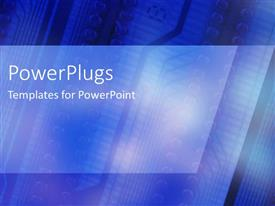 PowerPlugs: PowerPoint template with bright electric blue circuit board with angles