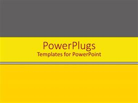 PowerPlugs: PowerPoint template with bright sunshine yellow banner with gray and white stripes