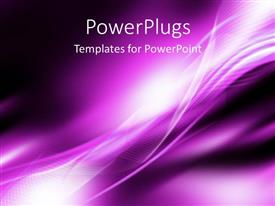 PowerPlugs: PowerPoint template with bright white curved patterns on purple background