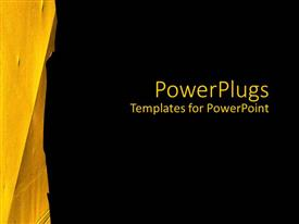 PowerPlugs: PowerPoint template with a bright yellow paint smudge on a solid black background