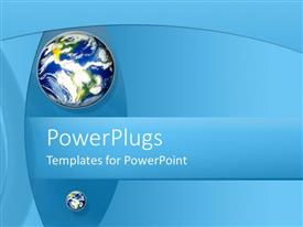 PowerPlugs: PowerPoint template with brightly colored globe on abstract blue background