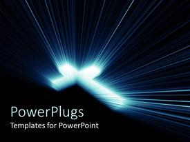 PowerPlugs: PowerPoint template with a brightly glowing cross on a black colored background