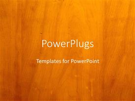 PowerPlugs: PowerPoint template with brown background with real wood grain