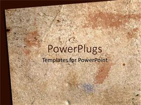 PowerPlugs: PowerPoint template with brown template with old brownish paper