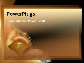 PowerPlugs: PowerPoint template with a brownish background with a bullet point