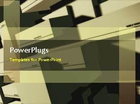 PowerPlugs: PowerPoint template with a brownish background with a bullet point and place for text