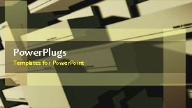 PowerPoint template displaying a brownish background with a bullet point and place for text - widescreen format