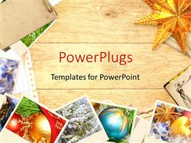 PowerPlugs: PowerPoint template with a brownish background with a number of bullet points