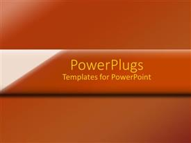PowerPlugs: PowerPoint template with a brownish background with place for text in the middle