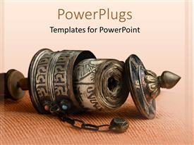 PowerPlugs: PowerPoint template with buddhist incense burner laying on its side, Buddhism, religion