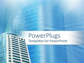PowerPlugs: PowerPoint template with a building with its reflection in the background