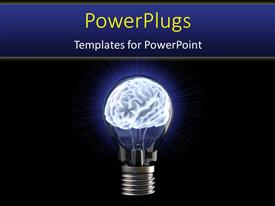 PowerPlugs: PowerPoint template with a bulb with a brain inside it