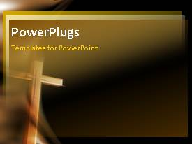 PowerPlugs: PowerPoint template with a bullet point with brownish background and a holy cross