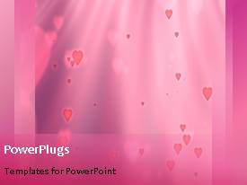 PowerPlugs: PowerPoint template with a bullet point with a pinkish background and place for text
