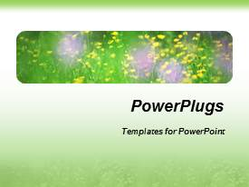 PowerPlugs: PowerPoint template with a bunch of flowers with green and white background