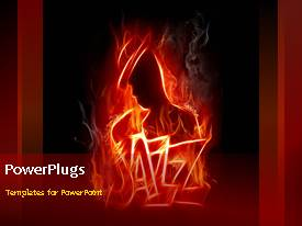 Jazz powerpoint templates crystalgraphics powerplugs powerpoint template with a burning figure with reddish background toneelgroepblik Images