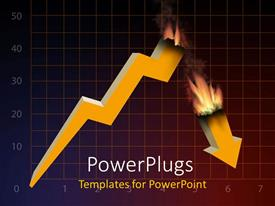 PowerPlugs: PowerPoint template with a burnt growth rate with squares in the background