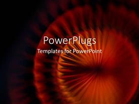 PowerPoint template displaying burnt orange spiral on black background, abstract