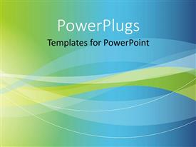PowerPlugs: PowerPoint template with a bluish and greenish background with a place for text