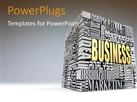PowerPlugs: PowerPoint template with a number of words in form of a block