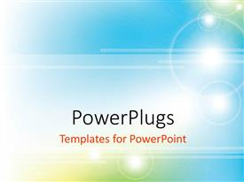 PowerPlugs: PowerPoint template with a bluish background with sunlight and place for text