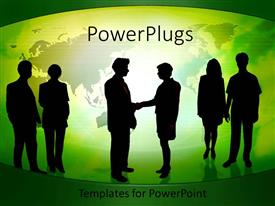 PowerPlugs: PowerPoint template with a business deal is being finalised