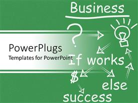 PowerPlugs: PowerPoint template with business flow chart, question, idea light bulb, money