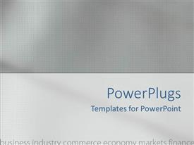 PowerPoint template displaying business industry commerce economy market finance all in a serious grey background