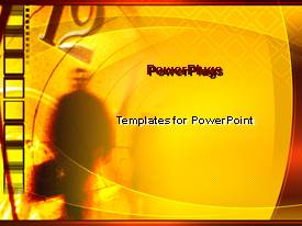 PowerPlugs: PowerPoint template with business man with briefcase blurred in background with vintage clock