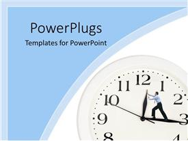 powerpoint template: a person turning a switch on and off (22547), Presentation templates