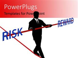 PowerPlugs: PowerPoint template with a person walking on a dangerous path