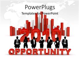 PowerPlugs: PowerPoint template with business opportunity in 2010, with bars