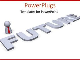 PowerPlugs: PowerPoint template with business plans strategy for the future profits fiances goals on a white background