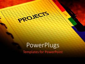 PowerPoint template displaying business Project planner with red color